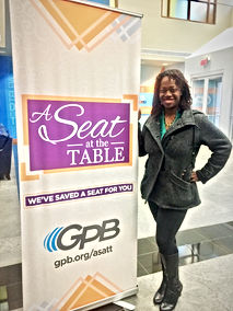 Ash Said it Ash Brown attends private taping of GPB A seat at th table