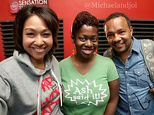 Ash Said It visits Michael and Joi in the Morning Radio Show