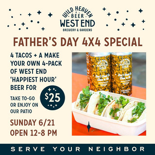 Have a Father's Day Fiesta at Wild Heaven Brewery + Cantina, FINA