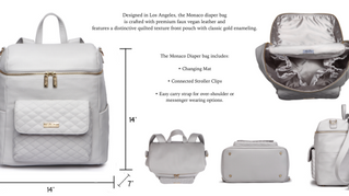 MEET THE MONACO BY LULI BEBE: THE DIAPER BAG THAT CONTINUES TO SELL OUT