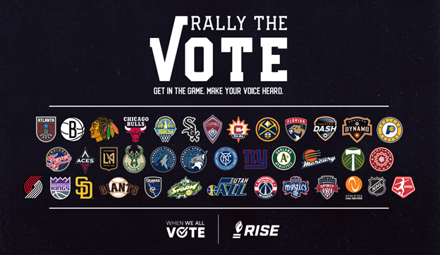 """Sacramento Kings-led Voter Registration Coalition """"Rally the Vote"""" Grows to Over 35 Professional Sports Teams Nationwide"""