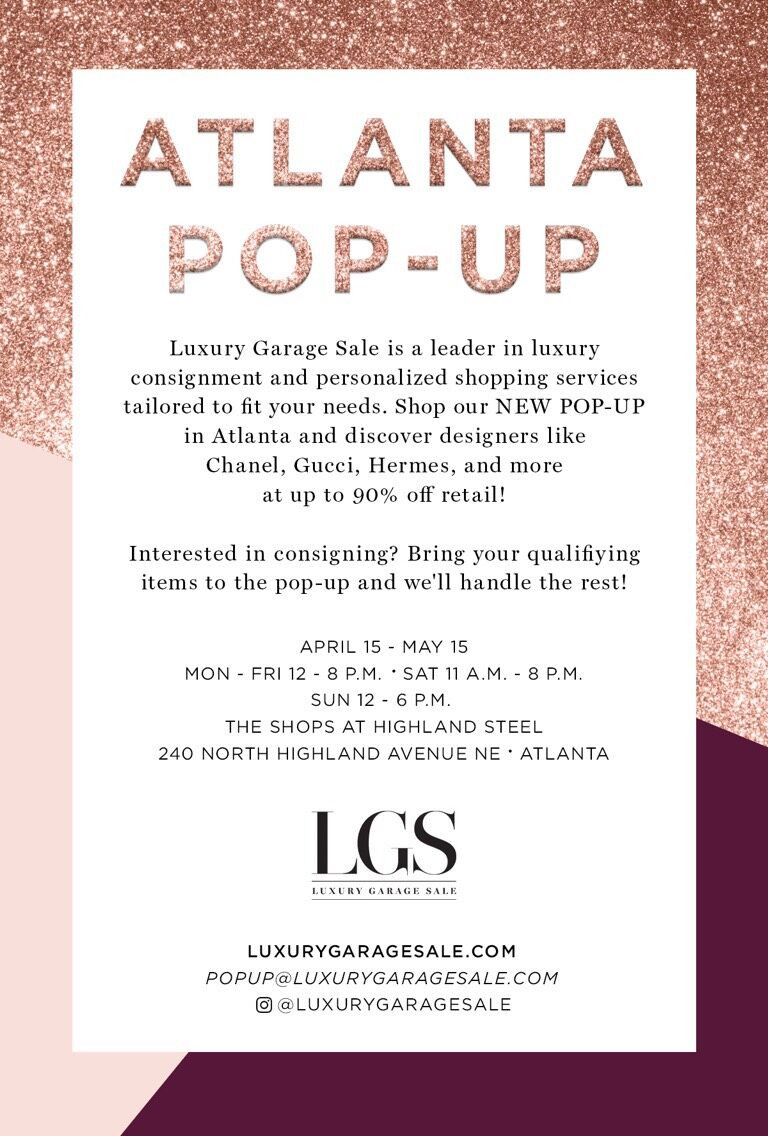 LUXURY GARAGE SALE OPENS ITS FIRST MONTH-LONG ATLANTA POP-UP SHOP