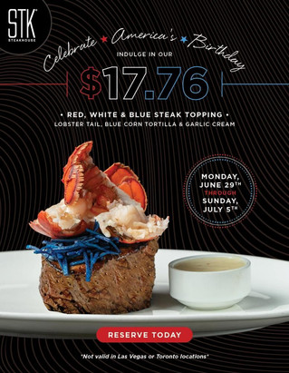 Add an All-American Sizzle With STK This Fourth of July