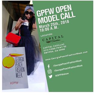 ALERT: Georgia Peach Fashion Week - Model Casting Call