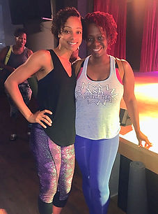 Ash Said it attends Hip Hop Yoga with Jaimee Ratcliff
