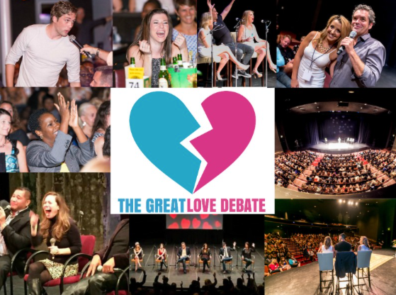 Guys on the left, girls on the right at this wild, feisty, hilarious, interactive show on love, sex, dating, and relationships in 2018!
