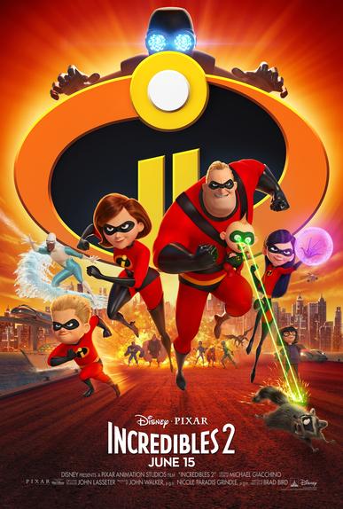 Incredibles 2 Key Art Poster
