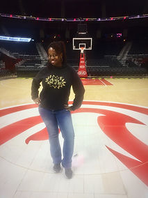 Ash Said It attends Philips Arena Courtside Club Media Tasting
