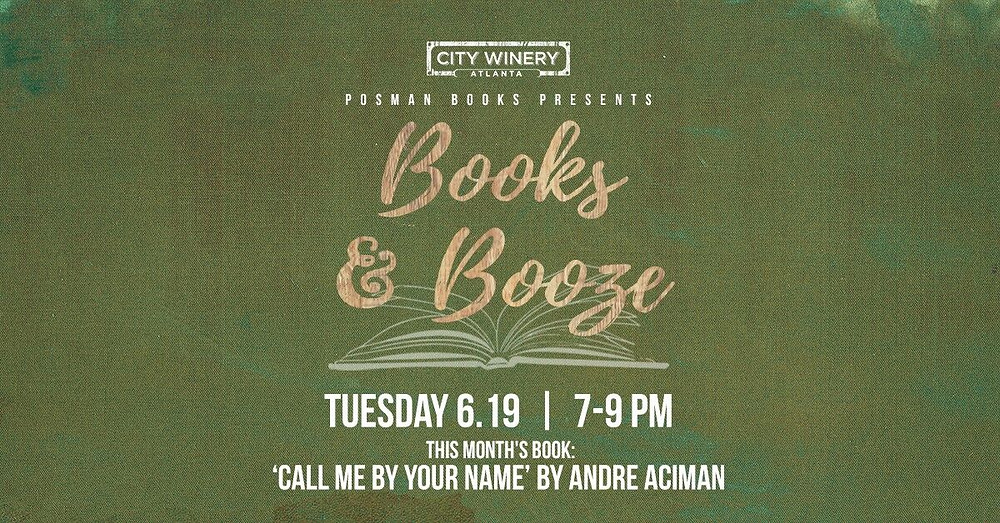 CITY WINERY AND POSMAN BOOKS ANNOUNCE JUNE BOOKS & BOOZE SELECTION