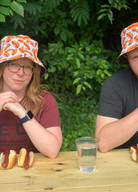 RED'S BEER GARDEN HOSTS INAUGURAL HOT DOG EATING COMPETITION