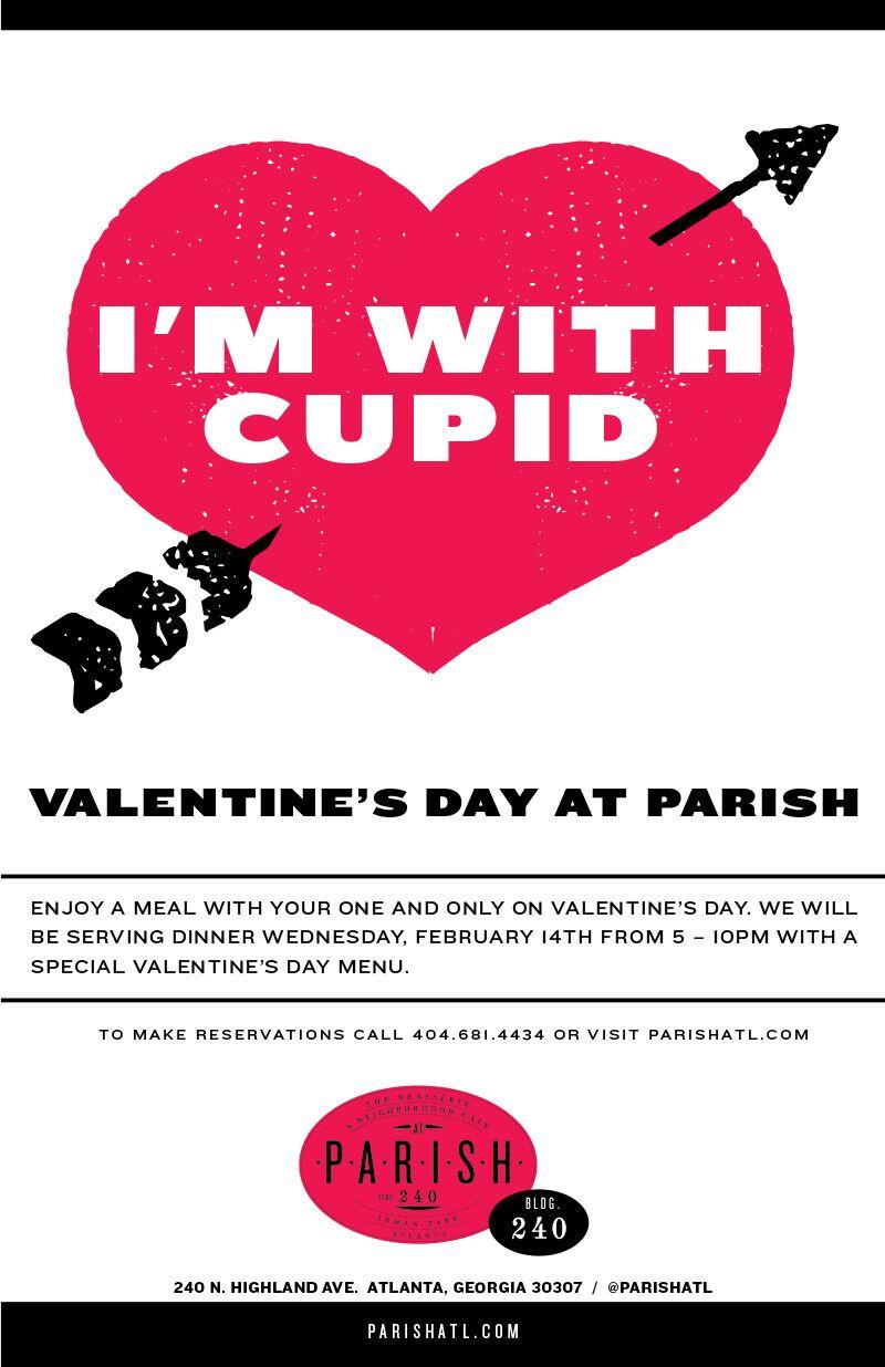 Spend Valentine's Day Dinner at PARISH in Inman Park