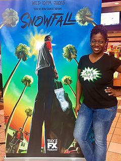 Ash Said It attends FX Snowfall Media Screening