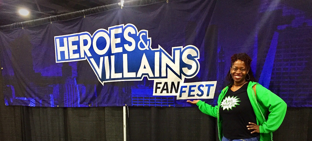 Ash Said it attends Heroes & Villains Fan Fest ATL