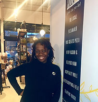 Ash Brown of Ash Said It attends Pizzaiolo Grand Opening on Marietta Street
