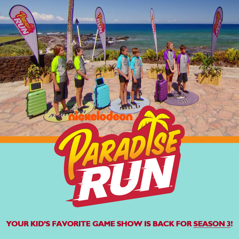 MYSTICART PICTURES IS AUDITIONING TEAMS OF TWO BETWEEN THE AGES OF 11 AND 14 TO COMPETE ON PARADISE RUN!