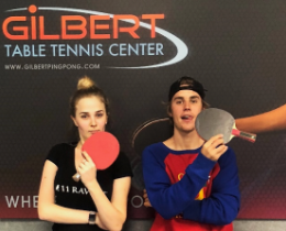 JUSTIN BIEBER PLAYS ON 11 RAVENS LUXURY TENNIS TABLE AGAINST WORLD CLASS COMPETITOR