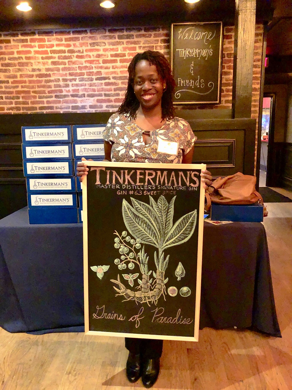 Ash Said It attends Tinkerman's Gin Atlanta Launch Party
