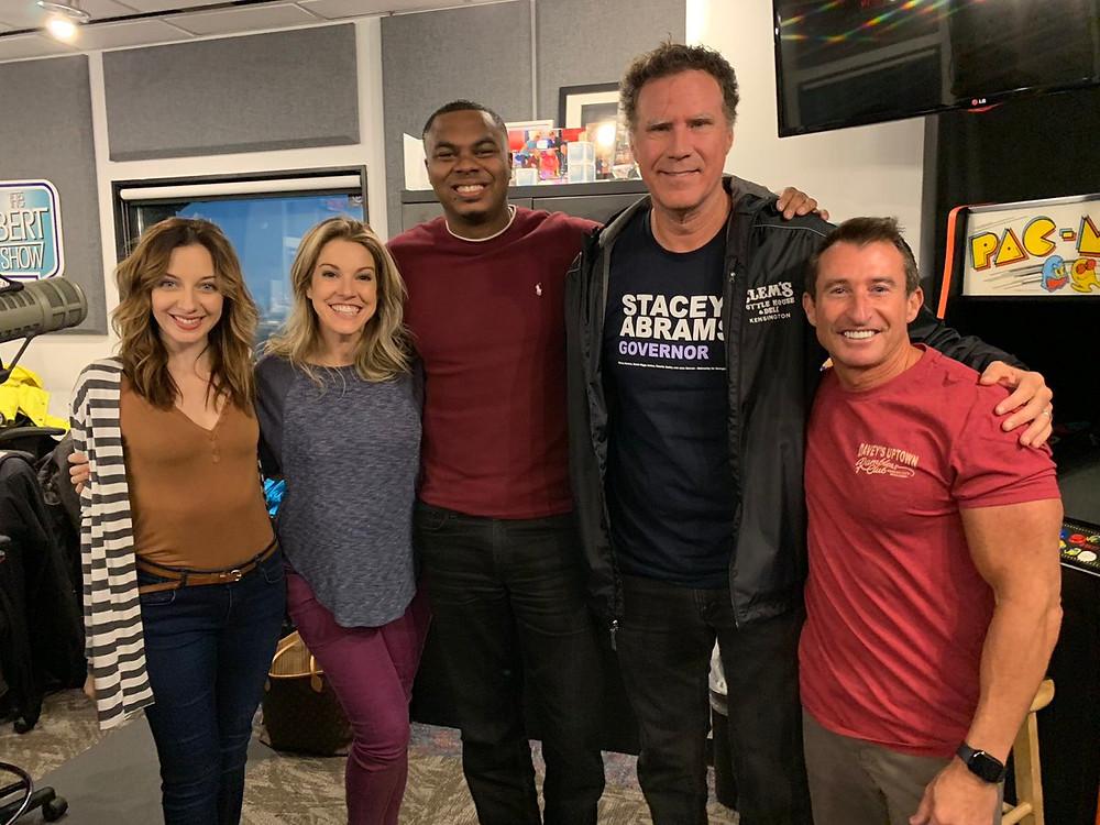 Will Ferrell Surprises The Bert Show In Studio