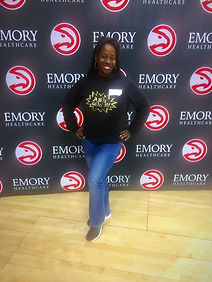 Ash Said it Ash Brown attends Philips Arena  Media Tasting of The Courtside Club