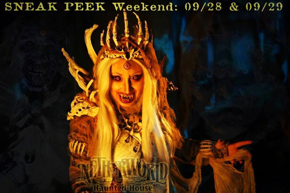 NETHERWORLD Haunted House Opens Early for Sneak Peek This Friday & Saturday!