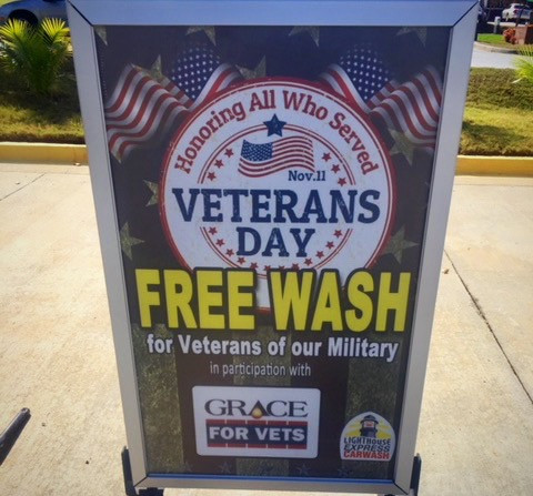 Free Car Wash for Veterans