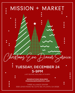 Join Mission + Market for a Delicious Christmas Eve Dinner