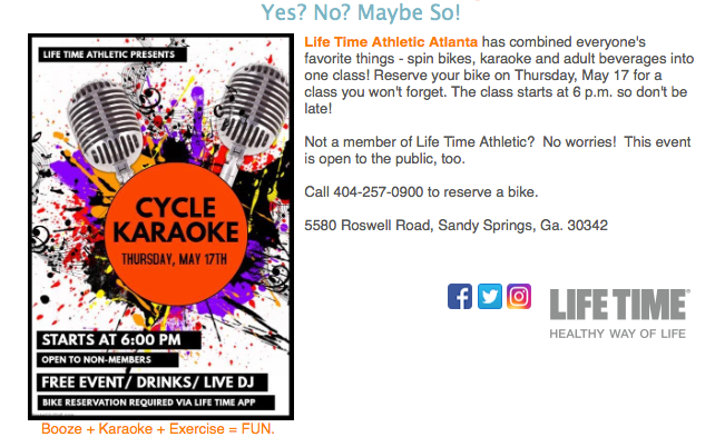 Spin Class and Karaoke? Together?