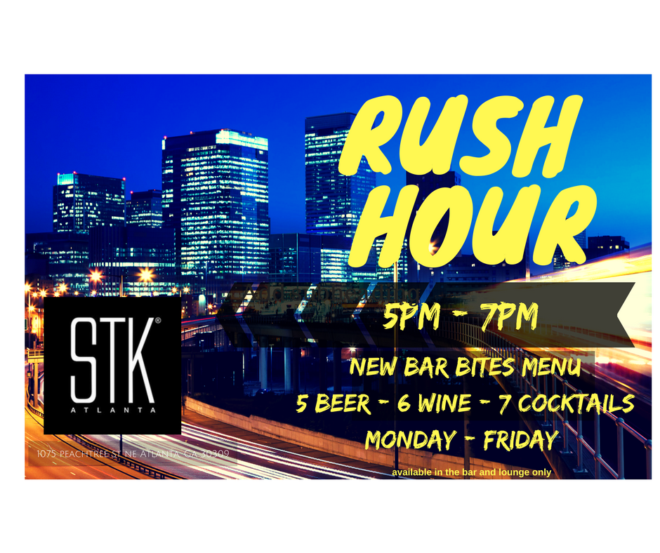 STK Atlanta Offers New Rush Hour Happy Hour Menu