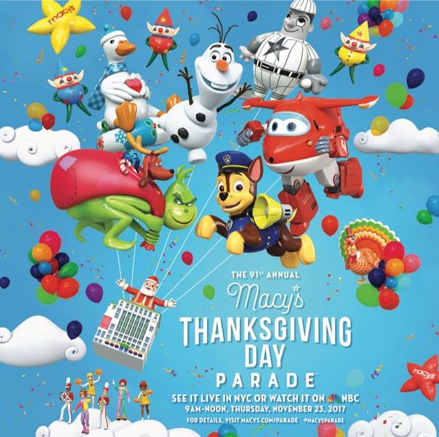 Macy's Day Parade 11/23 at 9 am