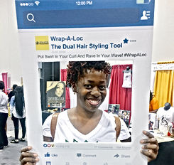 Ash Brown visits Wrap-a-loc tool booth