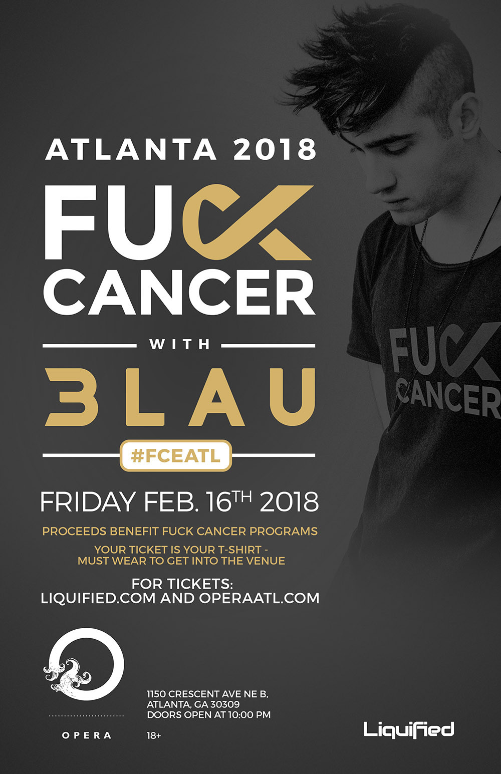 FCancer Hosts Atlanta Fundraiser Featuring 3LAU on February 16th