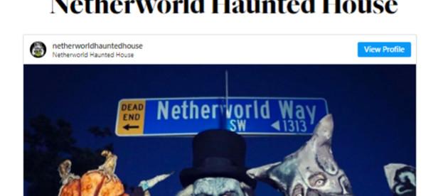 NETHERWORLD Haunted House Lands On Oprah Magazine's Top 10 Scariest Haunts in America