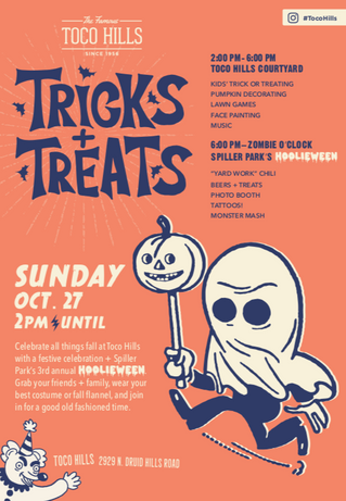 You're Invited: 10/27 Toco Hills x Spiller Park's Tricks+Treats Event