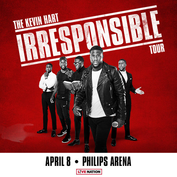 'The Kevin Hart Irresponsible Tour' is Coming to Philips Arena on Sunday, April 8