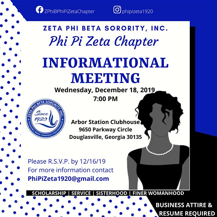 Zeta Phi Beta Sorority, Inc. - Membership Informational