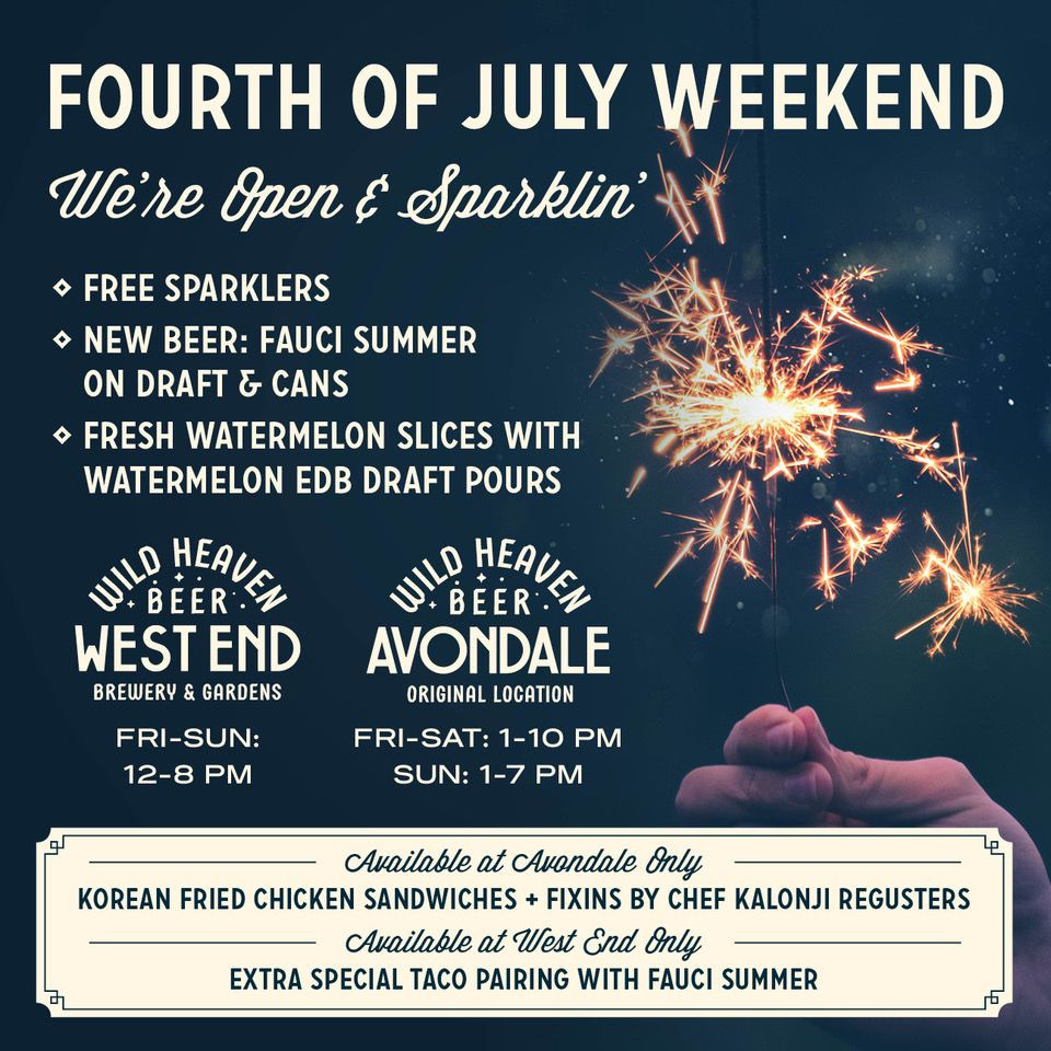 Add Some Sparkle to Independence Day Weekend at Wild Heaven