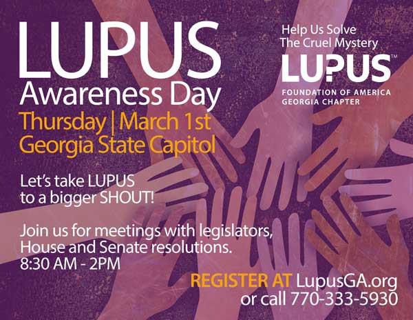 Lupus Awareness Day March 1 Atlanta