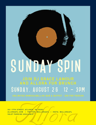 Spin into Sunday Brunch at ALLORA