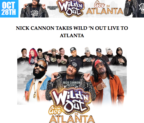 Nick Cannon Takes Wild 'N Out Live To Atlanta