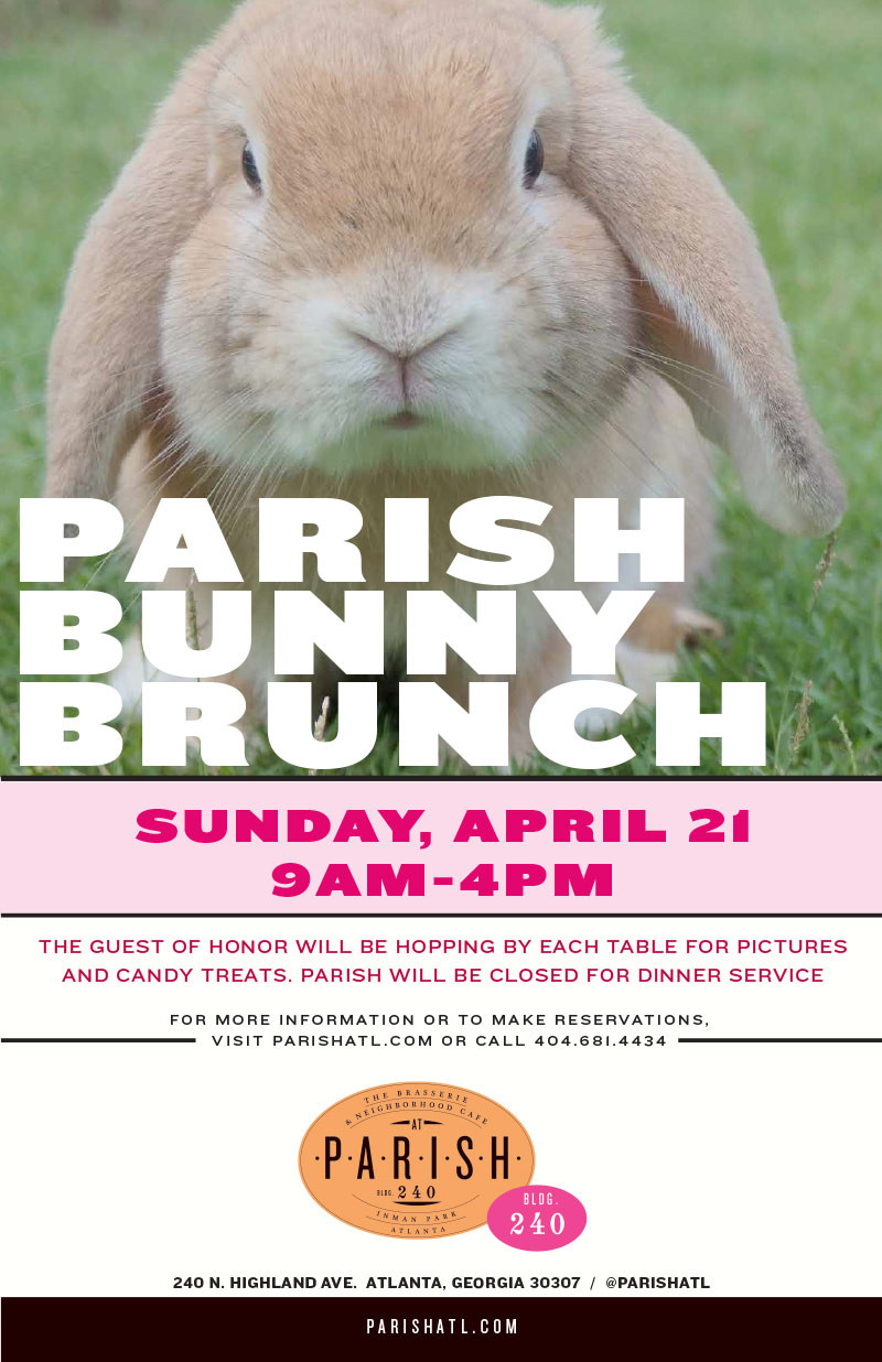 PARISH Hosts an Early Easter Bunny Brunch
