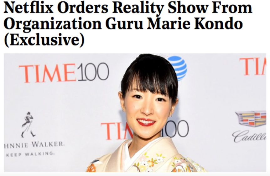 INTERNATIONAL PHENOM MARIE KONDO IS SET TO SPARK JOY IN PEOPLE'S LIVES IN A BRAND NEW SERIES FOR A GLOBAL TV PLATFORM!