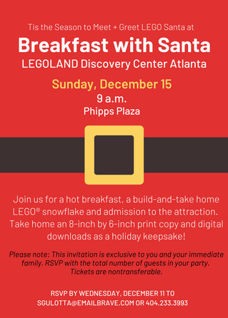You're Invited: Breakfast with Santa at LEGOLAND Discovery Center (Dec. 15)