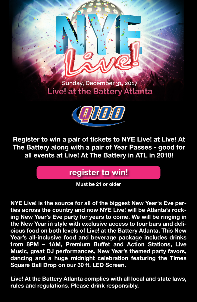 NYE Live! Enter for your chance to win tickets!