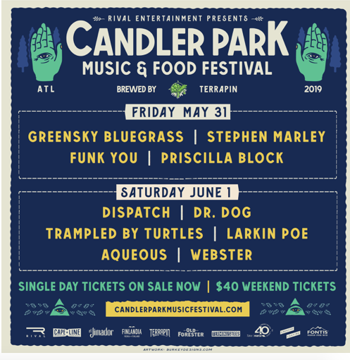 Candler Park Music & Food Festival Launches Single Day Ticket Sales + Announces Daily Lineup