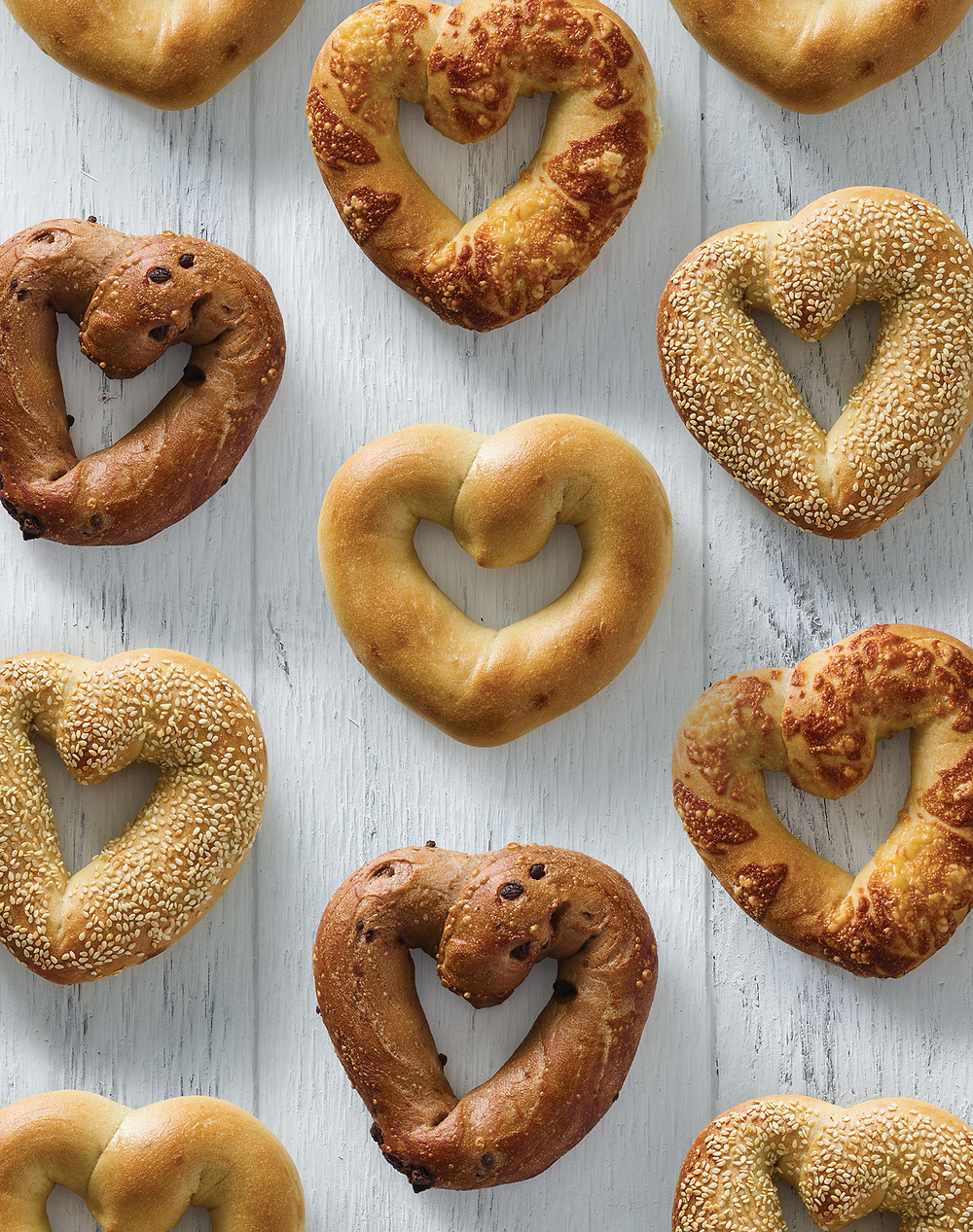 FORGET FLOWERS! EINSTEIN BROS. BAGELS OFFERS   HEART BAGELS FOR MOTHER'S DAY
