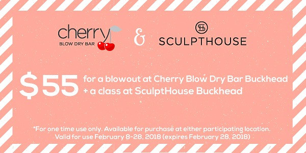 Celebrate Valentine's Day at Buckhead's Cherry Blow Dry Bar and SculptHouse