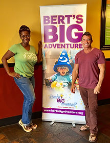 Bert's Big Adventure event at Moe's Southwest Grill with Bert Weiss and Ash Brown