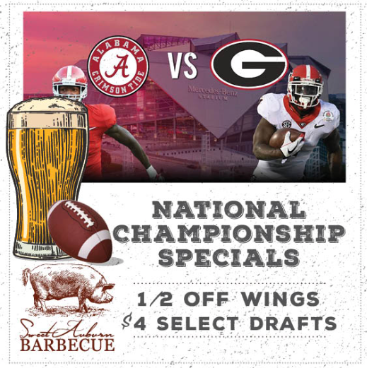 National Championship Game Specials - Smoked Wing Platters