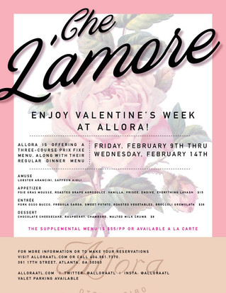 Enjoy Valentine's Week at ALLORA