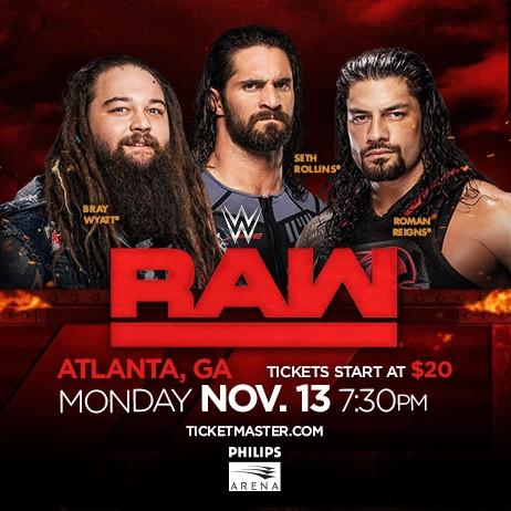 WWE RAW RETURNS TO ATLANTA